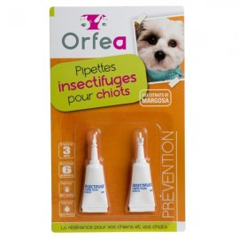Pipettes Insectifuge Chiots
