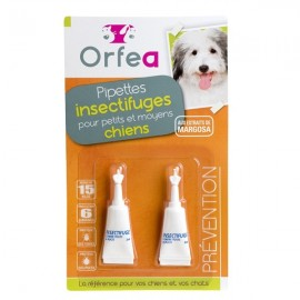 Pipettes Insectifuge Chiens Petites et Moyennes Tailles