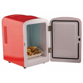 Mini frigo portable 50 W 4 l Rouge